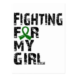 El luchar para mi enfermedad del higado del chica  tarjetas postales