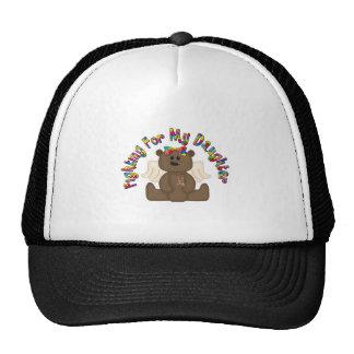 El luchar para mi hija (oso del chica) gorras de camionero