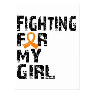 El luchar para mi leucemia 21 del chica tarjetas postales
