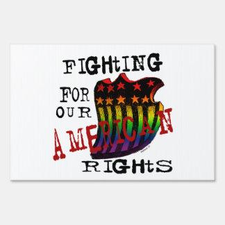 El luchar para nuestro americano endereza muestras cartel