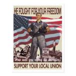 Él luchó para su postal de la libertad