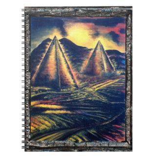El lugar de descanso, pirámides note book