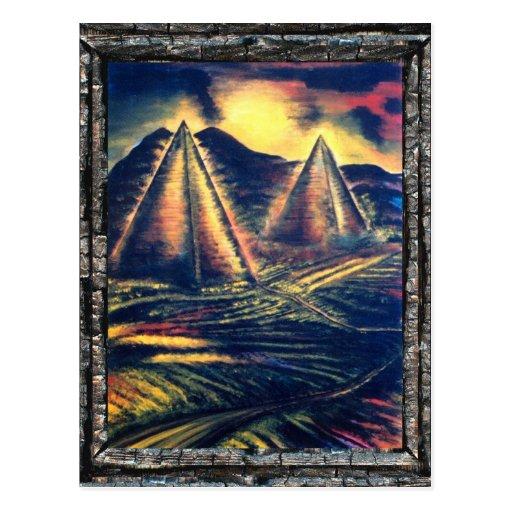 El lugar de descanso, pirámides postal