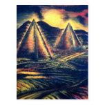 El lugar de descanso, pirámides postales