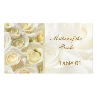 el lugar de la tabla de los rosas de la Blanco-cre Tarjeta De Visita