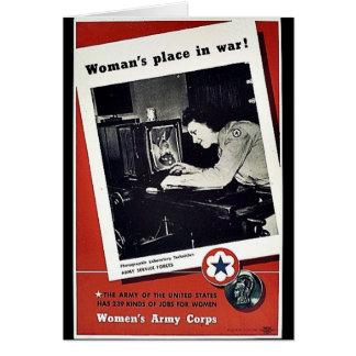 El lugar de las mujeres en guerra tarjeta