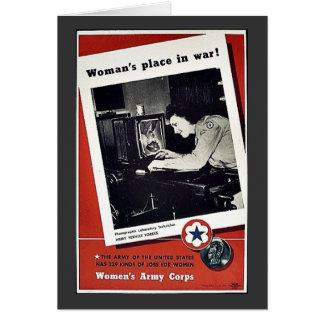 El lugar de las mujeres en guerra felicitación