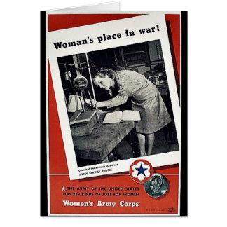 El lugar de las mujeres en guerra tarjetón