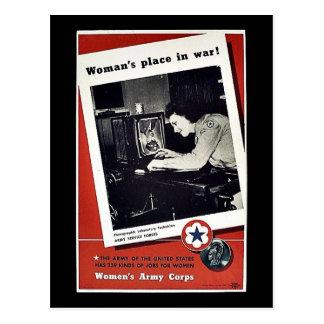 El lugar de las mujeres en guerra postales