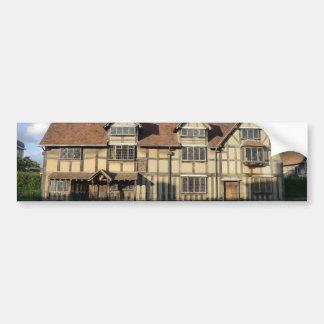 El lugar de nacimiento de Shakespeare en Stratford Pegatina Para Auto