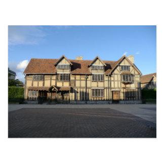 El lugar de nacimiento de Shakespeare en Stratford Tarjeta Postal