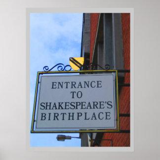 El lugar de nacimiento de Shakespeare Póster