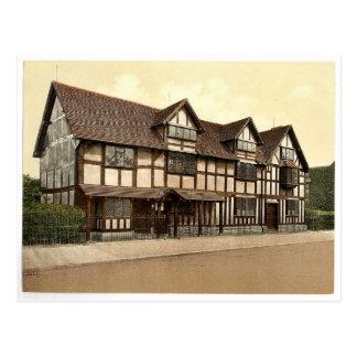 El lugar de nacimiento de Shakespeare, Stratford-e Tarjeta Postal