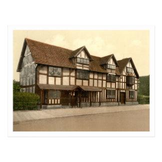 El lugar de nacimiento de Shakespeare, Stratford-s Tarjeta Postal