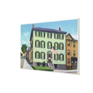 El lugar de nacimiento del poeta Longfellow Impresiones En Lona Estiradas