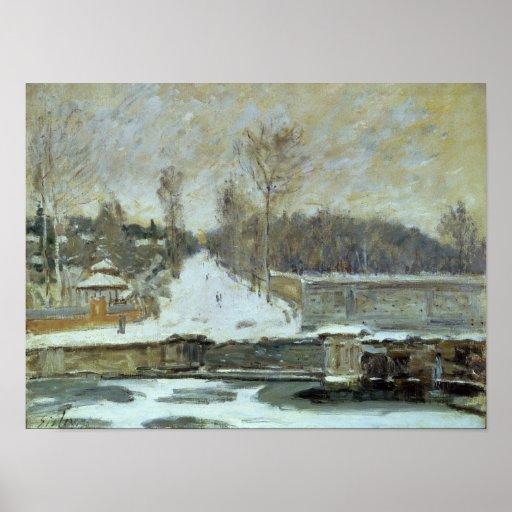 El lugar de riego en Margoso-le-ROI, 1875 Posters