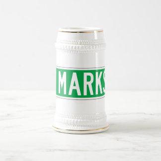 El lugar de St Mark, placa de calle de Nueva York Jarra De Cerveza