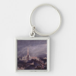 El lugar de St Mark, Venecia (claro de luna) graba Llaveros