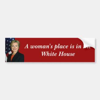 El lugar de una mujer pegatina de parachoque