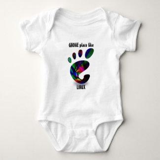El lugar del GNOMO tiene gusto de LINUX Body Para Bebé