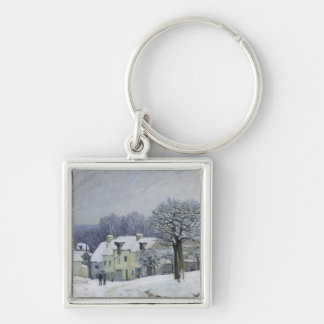 El lugar du Chenil en Margoso-le-ROI, nieve, 1876 Llavero Personalizado