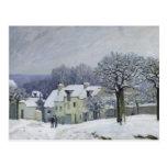 El lugar du Chenil en Margoso-le-ROI, nieve, 1876 Postal