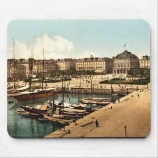 El lugar Gambetta y muelles, classi de Havre, Fran Tapetes De Raton