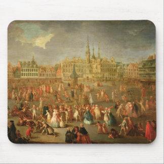 El lugar magnífico durante carnaval, Cambrai, 1765 Tapetes De Ratones