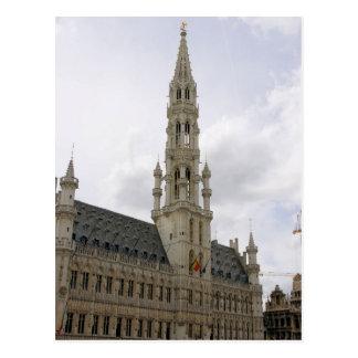 El lugar magnífico - postal de Bruselas, Bélgica
