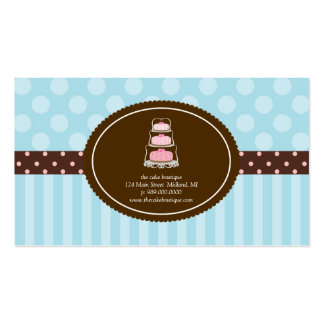 El lunar azul de la tienda de la torta raya tarjet tarjetas de visita