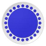 El lunar confinó la placa plato de cena