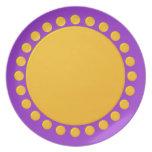 El lunar confinó la placa plato de comida