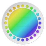 El lunar confinó la placa platos de comidas