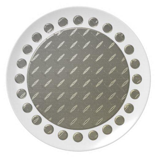 El lunar confinó la placa platos para fiestas