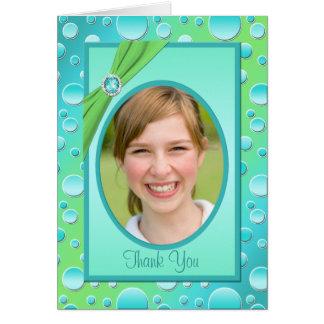 El lunar de la cal y de la aguamarina le agradece tarjeta de felicitación