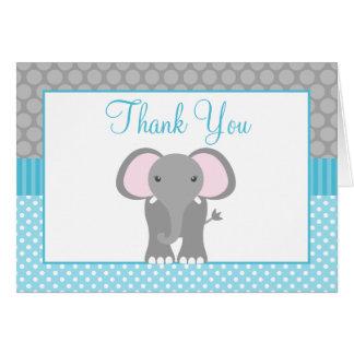 El lunar del elefante del gris azul del trullo le tarjeta pequeña
