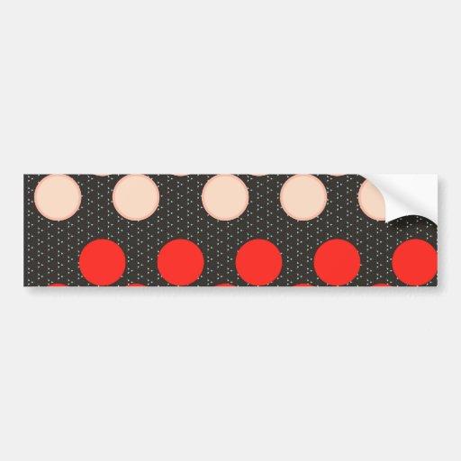 El lunar rojo del moreno circunda los regalos negr pegatina de parachoque