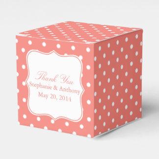 El lunar rosado blanco y coralino le agradece caja para regalos