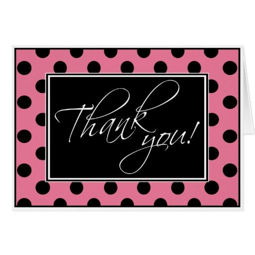 El lunar rosado y negro alternativo le agradece tarjeta pequeña