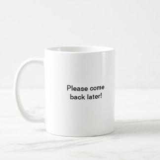 El lunes por la mañana taza