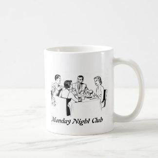 El lunes por la noche club taza básica blanca