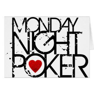 El lunes por la noche póker felicitacion