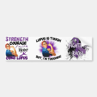 El lupus es duro… Pero soy más duro Etiqueta De Parachoque