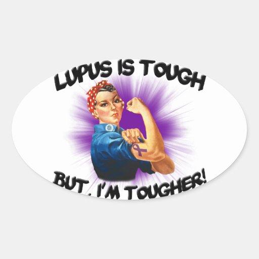 El lupus es duro… Pero soy más duro Pegatina Ovalada