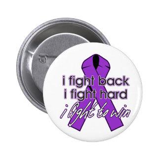 El lupus I se defiende Pin Redondo De 2 Pulgadas