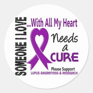 El lupus necesita una curación 3 etiquetas redondas