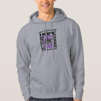 El lupus no puede tomar mi collage de la esperanza suéter con capucha