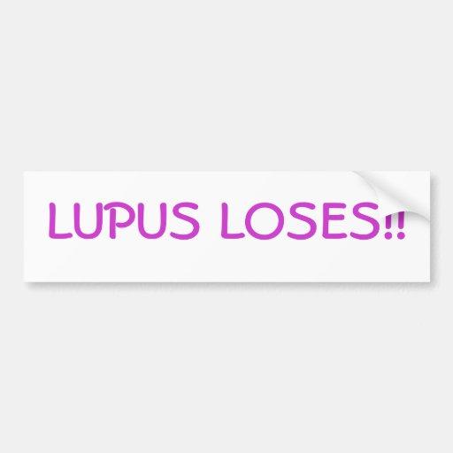 ¡El lupus pierde!! Pegatina para el parachoques Pegatina De Parachoque
