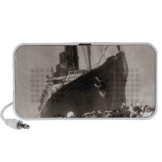 El Lusitania del RMS llega New York City 1907 Mp3 Altavoces