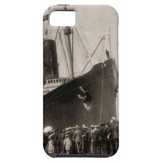El Lusitania del RMS llega New York City 1907 iPhone 5 Cárcasas